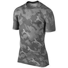 addbcad0275131 Men s medium nike pro combat core camo compression shirt t-shirt dri-fit  gray