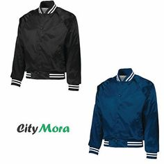 Raglan sleeves and reinforced slash front pockets make a winning play in fashion on this water-resistant, machine-washable jacket. Striped rib-knit collar, cuffs and bottom band. Water Resistant Coats, Augusta Sportswear, New Year Gifts, Rib Knit, Crowd, Adidas Jacket, Cheer, Cuffs, Just For You