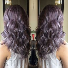 """""""@thejennshin created a beautifully rooted dusty lilac using @schwarzkopfusa coolor... ashy undertone"""