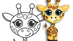 How to draw a Giraffe | Super cute & easy | Step by Step Drawing