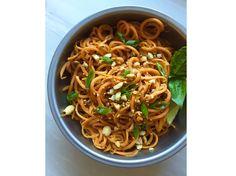 Sweet Potato Noodles with Peanut Sauce