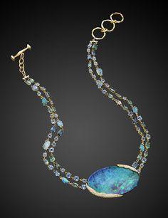 Mimi So ZoZo Boulder Opal Necklace