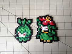 Pokemon Bead Sprite Set  Petilil Family by ToughTurtles on Etsy, $5.50