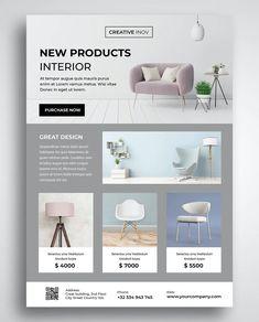 Interior Design Website, Website Design Layout, Layout Design, Flyer Design Templates, Flyer Template, Marketing Website, Flyer Design Inspiration, Poster Art, Newsletter Design
