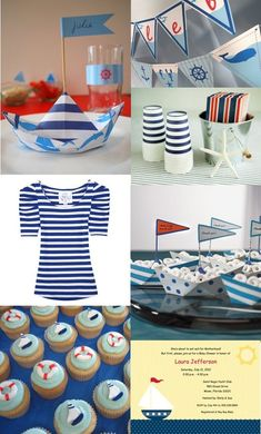 vintage nautical guest dessert feature party themes pinterest