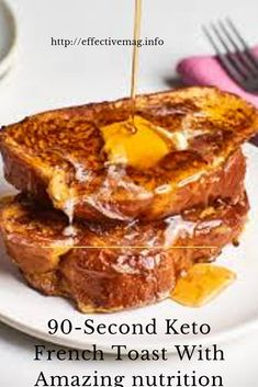 If you want a fast and delicious breakfast that feels decadent, then my Keto French Toast is the recipe for you! This is an excellent variation on the popular keto bread recipe. A few tweaks Apfel French Toast, French Bread French Toast, Challah French Toast, Overnight French Toast, French Toast Bake, Healthy French Toast, Breakfast Toast, Low Carb Breakfast, Breakfast Recipes