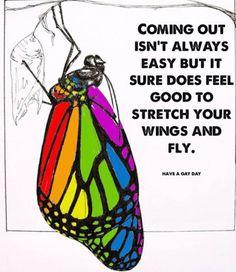 Svěřit se není vždy snadné, ale je to skvělý pocit, když můžete roztáhnout svá křídla a letět ke svobodě... #LGBT #LGBTPride