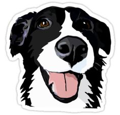 Beautiful, smiling collie dog :) • Also buy this artwork on stickers, apparel, phone cases, and more.