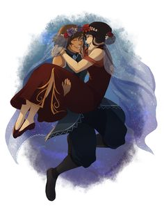 """Korrasami (The Legend of Korra) - """"Wedding day!"""" by Nymre (original source has disappeared)"""