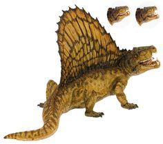Dimetrodon de la marca Papo. Mandíbula articulada. Novedad de 2013. Increíble realismo y detalle.  Disponible en septiembre de 2013 aprox.  El dimetrodon es un animal prehistórico extinto. Fue uno de los animales más grandes de su tiempo y un gran depredador. Medía unos 3 metros de largo y pesaba unos 150 Kg. Vivió a principios del Pérmico, hace unos 260 millones de años en lo que hoy se conoce como EEUU.  Alto: 10 cm Largo: 18 cm Ref. 30012 Precio: 22.00 € IVA incluido