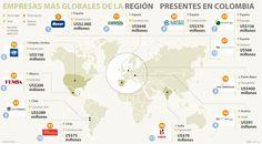Solo 12 de las 50 firmas más globales invierten en el país Map, Spain Tourism, United States, Countries, Location Map, Peta, Maps