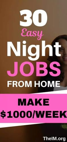 30 best night jobs for stay at home moms.You can earn money from your comfort zone.#makemoneyonline #jobs #workfromhome #nightjobs