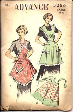 1940's Advance Apron Pattern