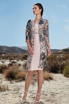 Conjunto de vestido y abrigo  1170204 Sonia Peña 2017
