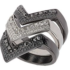 V Stack Ring ($14) ❤ liked on Polyvore