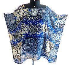 A modelagem kaftan é ampla, para ser usada de forma bem livre e descontraída por todos os manequins  R$ 79,90