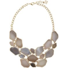 Natural Stone Statement Necklace ❤ liked on Polyvore featuring jewelry, necklaces, natural stone necklaces, statement necklace, statement bib necklace and natural stone jewelry