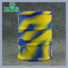 RHS factory 500 ml big oil barrel silicone contaer bho dab oil silicone jar for wax 1pcs free shipping