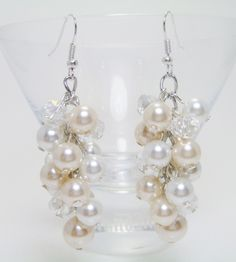 Pearl Cluster Earrings.  I like the two tones in one