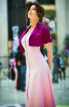 Cosplay Manga Aerith Gainsborough from Final Fantasy VII by - - More memes, funny videos and pics on Final Fantasy Vii, Final Fantasy Cosplay, Final Fantasy Girls, Cosplay Outfits, Cosplay Girls, Cosplay Costumes, Amazing Cosplay, Best Cosplay, Female Cosplay