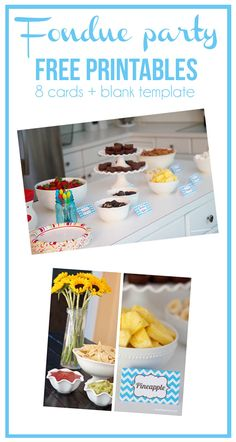 Fondue party free printables on iheartnaptime.com ...fun idea for any party! http://pinterest.com/pin/157555686936915907/