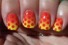 these colors are so awesome together.  Gradient and Polka Dots via amber did it.