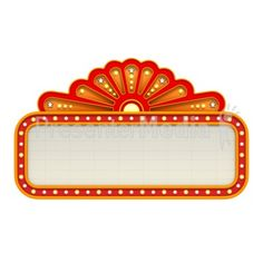 broadway theme signs | Classic Movie Theater Marquee Presentation clipart