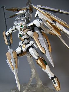 "MG Qan [T] Quanta ""Quanta Chan"" Custom Build - Gundam Kits Collection News… Gundam Exia, Gundam 00, Gundam Wing, Gundam Toys, Gundam Mobile Suit, Arte Robot, Gundam Custom Build, Gundam Seed, Robot Concept Art"