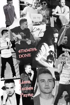 Made a collage because I'm so done with Liam Payne right now.