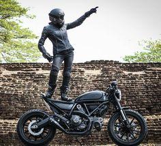 Ducati Scrambler Cafe Racer custom                                                                                                                                                                                 More