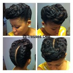 That moment when you want you hair to last before wash day and you create the best updo ever. Check out our gallery of updo styles Natural Hair Updo, Natural Hair Care, Natural Hair Styles, My Hairstyle, Afro Hairstyles, Black Hairstyles, Wedding Hairstyles, Stylish Hairstyles, Hairstyles Videos