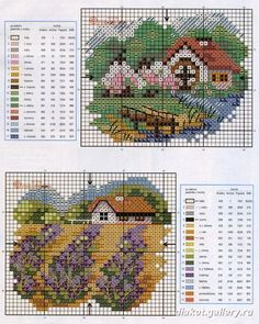 Houses - Casas - Villas - Maisons. Loving Cross Stitch - Picasa Web Albums.