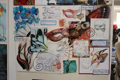 MORRISONS ACADEMY HIGHER DESIGN DEVELOPMENT Ed Design, Mask Design, Textiles Sketchbook, Art Sketchbook, Sketchbook Inspiration, Design Inspiration, Advanced Higher Art, A Level Textiles, A Level Art