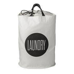 Bloomingville Wäschekorb LAUNDRY weiß Ø40x50cm 54€