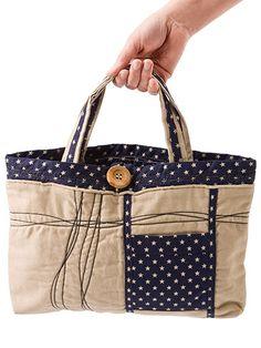 Sewing - Handbag Patterns - Two Handles Patterns - Starry Night Tote