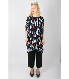 Marimekko Colourful Drops Print Shirt, M - WST