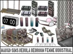 "loveratsims4: "" Mango-Sims Nebula Bedroom set in a feminine industrial styl0r for those who want both their metal AND their pink bits =D ::YOU NEED THE MESHES FOR THE RECOLOURS TO WORK:: Grab the..."
