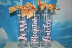 personalized tumbler with straw-bridesmaid tumbler-bride tribe tumbler-wedding favor-bridal shower-bridalparty-bachelorette-bridesmaid gift by madewithlovebyV on Etsy