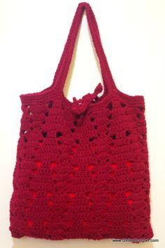 free crochet pattern, crochet christmas bag, easy,