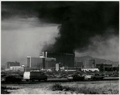 MGM Grand fire, November 21, 1980. 85 people were killed in the tragedy, which remains Nevada's worst disaster and one of the worst hotel fires in US history.  Although Las Vegas is famous for expansive remodeling, reconstruction and hotel implosions, this hotel was reopened, renamed Bally's in 1986, and still stands over 30 years later.