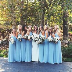 Best weekend, best bride, best friend, best girls, best of the best Mrs. Slemons! (Steel Blue bridesmaid dresses by Mumu!) #whenlifegivesyouslemons #mumumondaygiveaway
