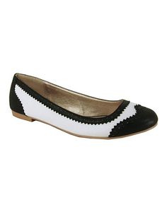 Take a look at this White Palmer Flat by Qupid on #zulily today!