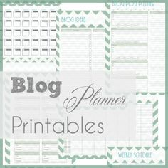 A wonderful planner.  Pretty and functional!  A Typical English Home: Blog Planner Printables: The Complete Set