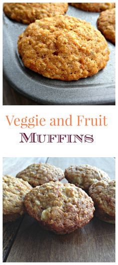 These veggie and Fruit Muffins are the perfect solution to getting in those veggies