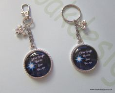 Pendant or Keyring & Bagcharm 'Shine Like The Star You Are' Worded Inspirational Message by BeadsNBlingsNLeather on Etsy