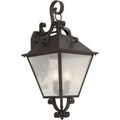 Forte Lighting 1107-04-32 Outdoor Sconce, Antique Bronze by Forte Lighting. $152.35. Finish:Antique Bronze, Glass/Shade:Clear Seeded Glass Panels, Light Bulb:(4)60w B10 Cand C Incand Outdoor wall lighting