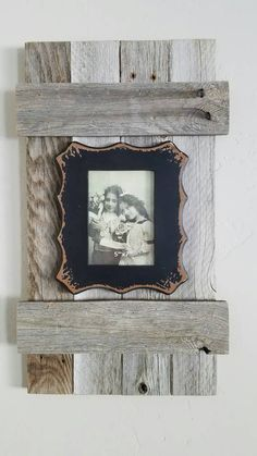 Funky Frame with Barnwood shutter by HCWoodworking on Etsy