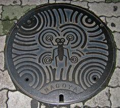 Manhole cover, Nagoya, Japan