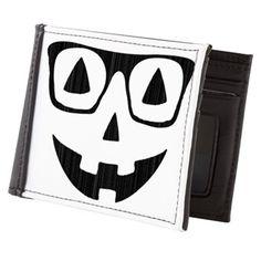 Pumpkin with glasses Mens Wallet