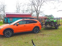 Chad Gaspard hauls his ATV with a Subaru XV Crosstrek and EcoHitch. He's careful to stay within the vehicle's 1,500lb MVTW. Well done Chad!